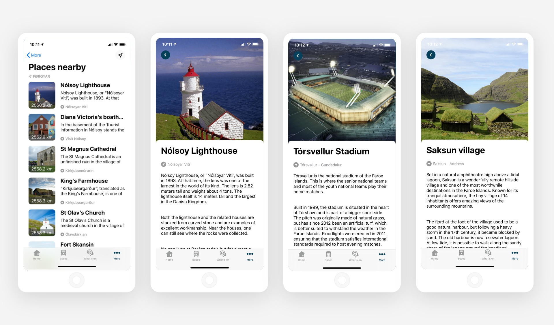 Campaigns on Sona app with points of interest in Faroe Islands