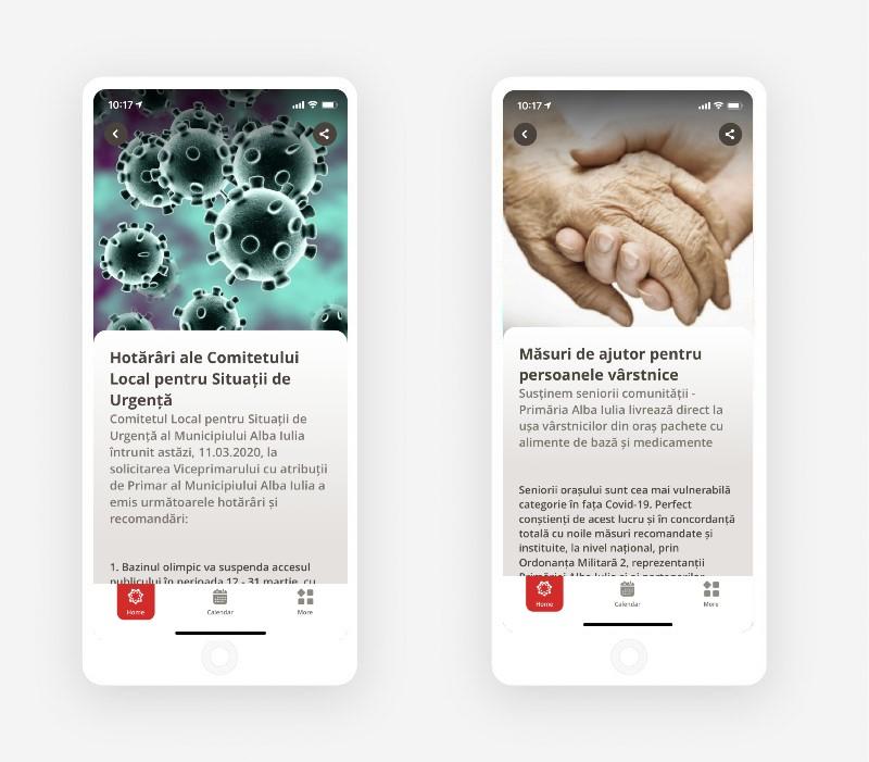 Screenshots e-alba iulia app