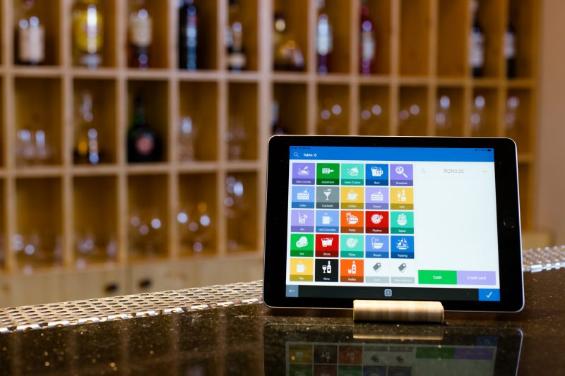 Tablet with Ebriza POS system